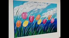 Tulpen Malen Acryl Tulip Acrylic Painting F 252 R Anf 228 Nger