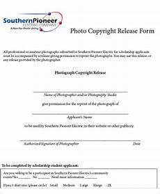 sle photography copyright release form 7 exles in word pdf