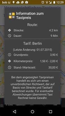 tipp taxikosten berechnen androidmag