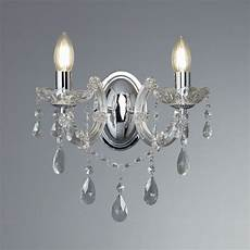 searchlight marie therese classic wall light in polished chrome finish 399 2 lighting