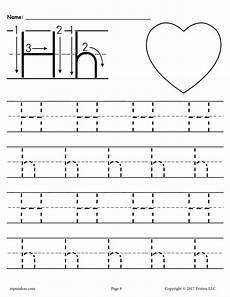 tracing worksheets letter h 24433 free printable letter h tracing worksheet supplyme