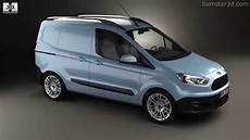 ford transit courier 2015 by 3d model store humster3d