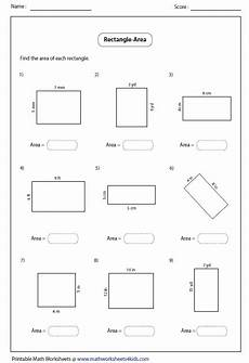 area of a rectangle worksheets search algebra