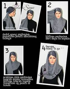 Tutorial Pashmina Kaos Cara Memakai Jilbab