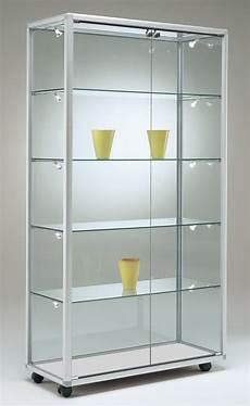 glas vitrine breite glasvitrine ausstellung abschlie 223 bar 100 x 40 cm