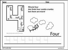 number four tracing worksheet math concepts pinterest