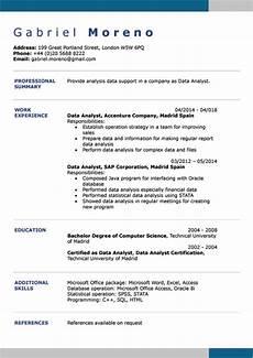 english cv exles doc template online creator