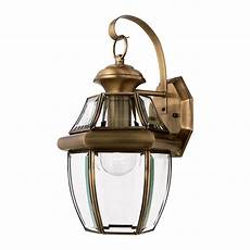 quoizel newbury 14 in h antique brass outdoor wall light at lowes com