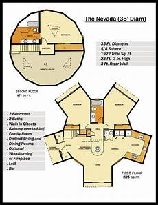 geodesic dome house plans floor plan for quot the nevada quot geodesic home 5 8 sphere 1933