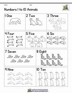 colors and numbers worksheets 18744 numbers to 10