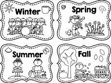 winter summer fall coloring page wecoloringpage