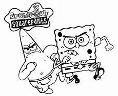 Gambar Spongebob Squarepants Untuk Diwarnai Gambar