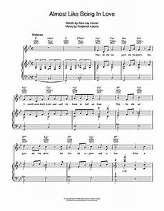 almost like being in love sheet music by lerner loewe piano vocal guitar right