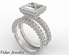 wedding ring 2 carat princess cut diamond bridal ring vidar jewelry unique custom
