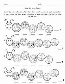 coin caterpillars pdf counting money worksheets math