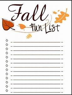 Blank Fall List Template List Family List