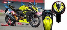 Modifikasi Striping All New Cbr150r by Modifikasi Striping Honda New Cbr150r Black Simple Yellow