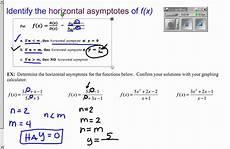 2 6 finding horizontal asymptote