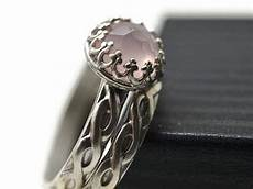 engraved celtic style twisted silver rose quartz wedding