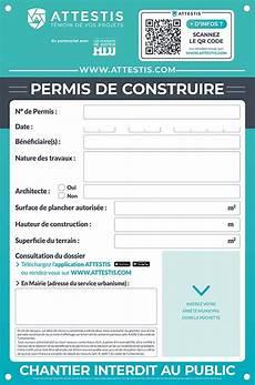 panneau affichage permis de construire proc 233 der au bon affichage de permis de construire