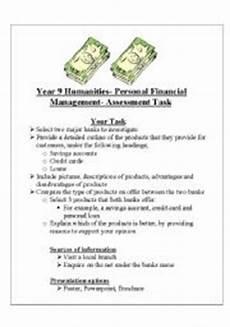 english worksheets year 9 money management assesment task