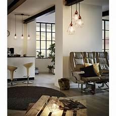 luminaire salon design suspension g 233 om 233 trique 224 3 lumi 232 res en m 233 tal cuivr 233 l79cm