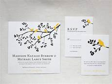 black white and yellow wedding invitations a sophisticated and bright wedding color palette