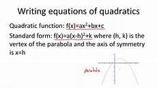 vertex form of a quadratic equation ck 12 foundation