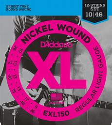 D Addario Exl150 Nickel Wound Electric Guitar Strings 12