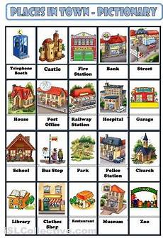 places in my neighbourhood worksheets 16015 classroom on