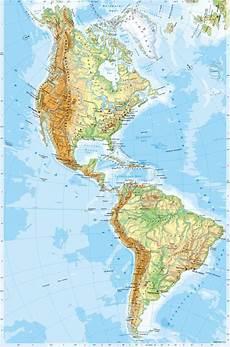 Diercke Weltatlas Kartenansicht Amerika Physische
