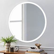 costway 24 led mirror illuminated light wall bathroom round make up touch button