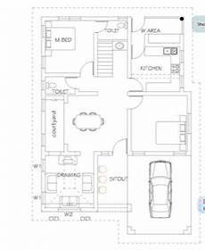 house plans in kerala with 2 bedrooms stunningly designed 2 bedroom kerala home plan in 750 sq