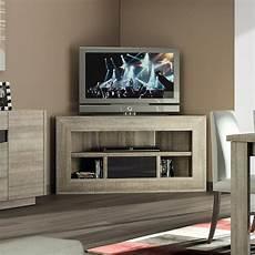 Meuble Tv D Angle Bois Et Laqu 233 Gris Moderne Fabio