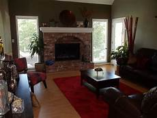 paint colors for living room with brick fireplace