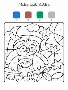 Malen Nach Zahlen Ausmalbilder Herbst Natur Wald Herbst Tiere Malvorlage Kindergarten Natur
