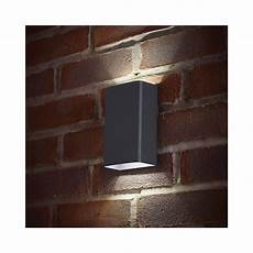 endon lighting el 40073 led outdoor matt grey up down double wall light endon lighting from