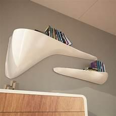 mensole bianche laccate mensole design moderno per soggiorno cloudy