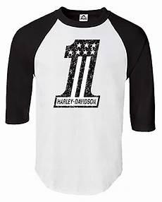 harley davidson t shirts harley davidson s distressed 1 3 4 sleeve raglan