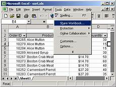 ms excel 2003 share a spreadsheet between multiple users