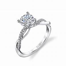 spiral wedding ring spiral engagement rings sylvie collection