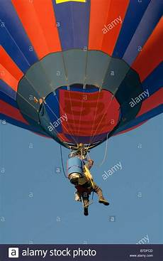 b7dfcd pilot in a cloudhopper air balloon flying in a bright