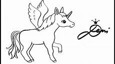 Einhorn Malvorlage Einfach Pferd Einhorn Pegasus Schnell Zeichnen Lernen How To