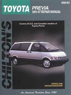 car repair manuals online free 1997 toyota previa parking system chilton toyota previa 1991 1997 repair manual