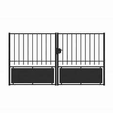 Portail Fer Chatillon Noir 300 X H 160 Cm Castorama