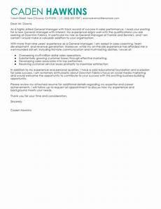 best sales general manager cover letter exles livecareer