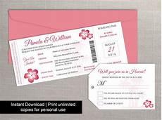 diy printable wedding boarding pass luggage tag template 2454785 weddbook