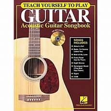 teach me how to play guitar hal leonard teach yourself to play guitar acoustic guitar songbook cd musician s friend