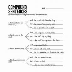 basic sentence pattern worksheets for grade 4 529 compound sentences 2 chang e 3 student and sentences