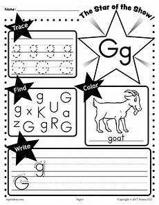 free letter g worksheet tracing coloring writing more supplyme